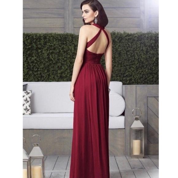 6e6b731322 Dessy Collection Dresses   Skirts - Dessy Lux Chiffon Burgundy Bridesmaid Prom  Dress 8